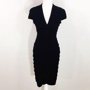 Tadashi Shoji black bandage midi dress